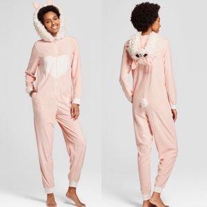 Pink Llama Adult Onesie Size S